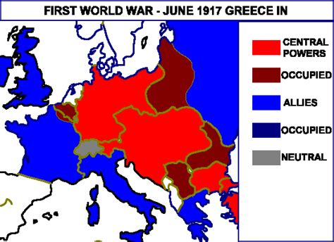 the great powers and the end of the ottoman empire first world war map of europe in june 1917