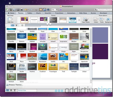 new themes for ms powerpoint 2010 powerpoint 2011 for mac review what s new