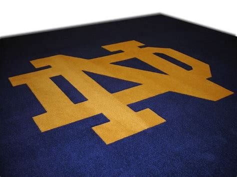 notre dame rug 38 best images about and school logo rugs and carpets on carpets