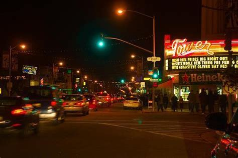 City Lights Fresno Ca by Tower District Fresno California