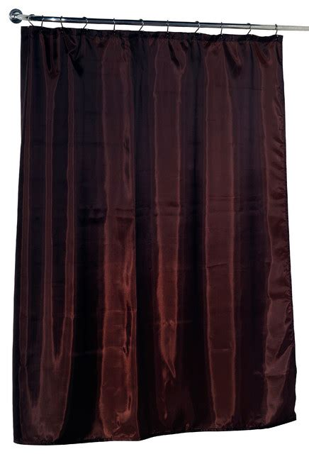 brown shower curtain liner standard sized polyester fabric shower curtain liner in