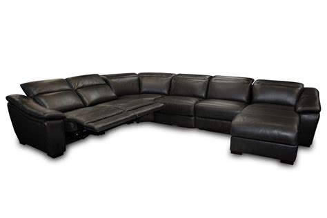 6 piece leather sectional sofa 6 piece jasper black leather sectional