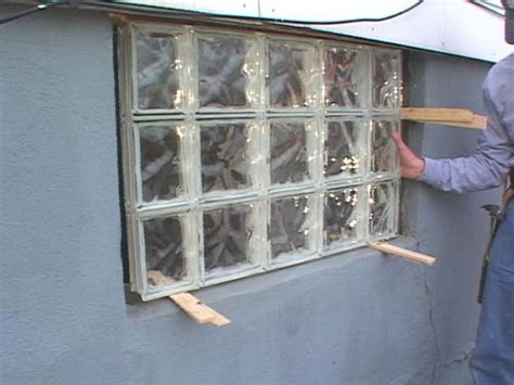 how to build a glass block wall how tos diy