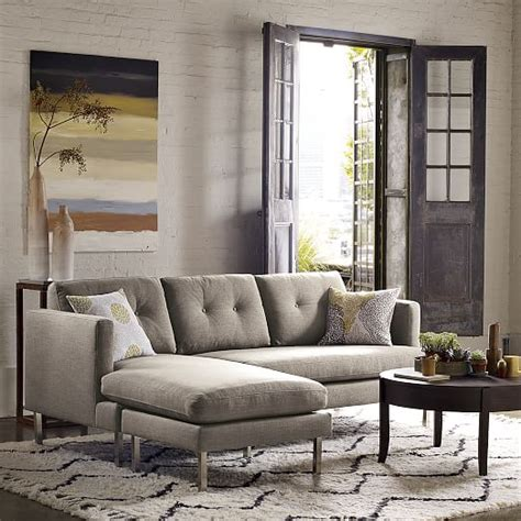 west elm jackson sectional jackson 2 piece chaise sectional west elm