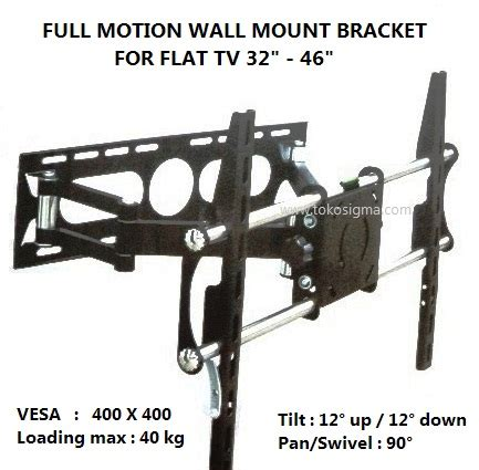 Tv Led Dinding wall bracket motion kz 27 for flat tv 32 46 in