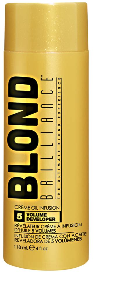 blond brillance toner and volume developer blond brilliance 5 volume oil creme infusion developer