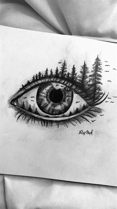 aesthetic eye drawing aesthetic tumblr