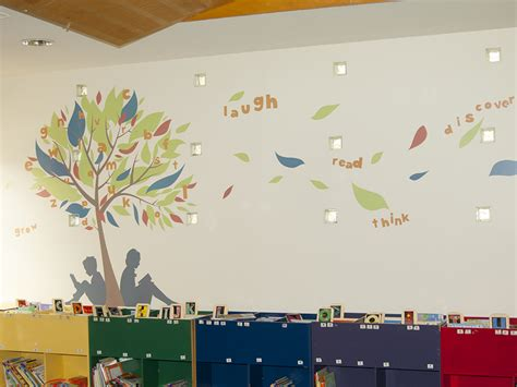 feature wall stickers children s area library feature wall