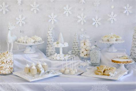 white decor white christmas desserts evite
