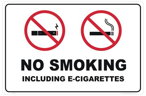 no smoking sign e cigarettes no e cig e cigarettes sign national safety signs