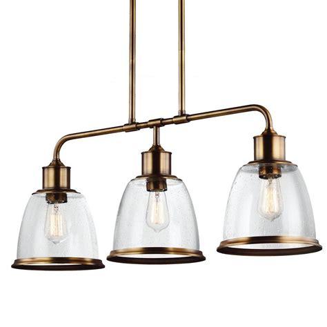 Brass Island Light Feiss Hobson 3 Light Aged Brass Island Light F3019 3agb The Home Depot