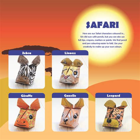 origami safari animals safari animals origami craft kit by popagami