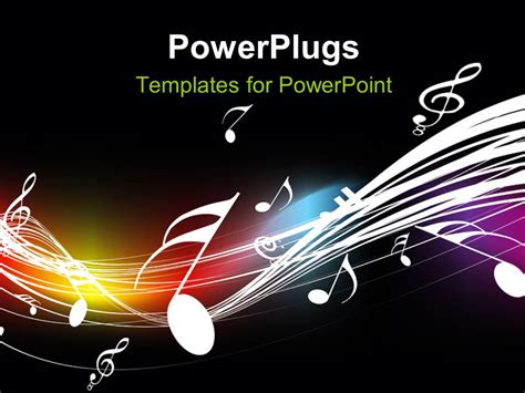 templates for musicians powerpoint template symbols floating on