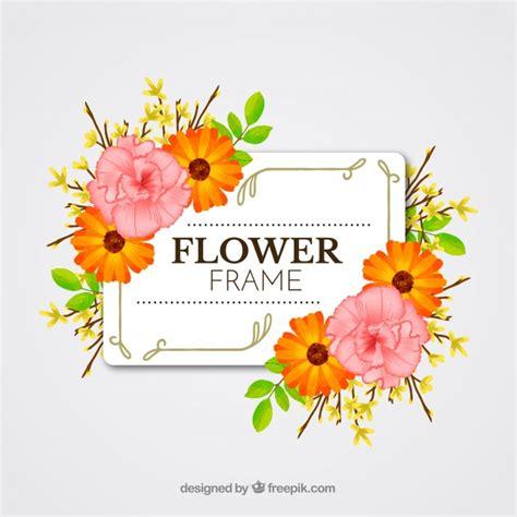 cornice floreale cornice floreale primavera disegnata a mano scaricare