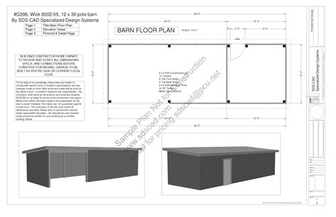 free pole barn plans blueprints free sle pole barn shed plan download g398 12 x 36