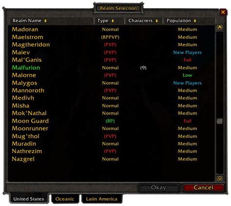 best wow server eu realm wowwiki your guide to the world of warcraft