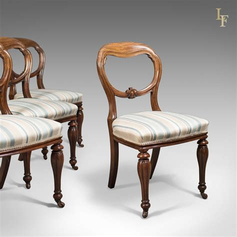 antique set   dining chairs early victorian balloon