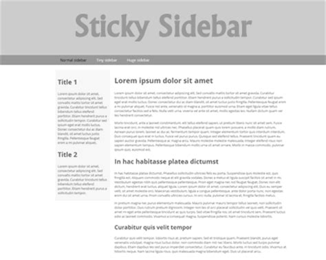 fixed sidebar during scrolling between header footer sticky sidebar jquery plugin jquery plugins