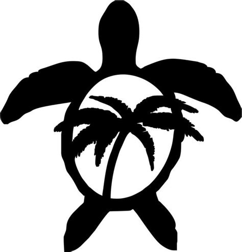 Auto Logo Palme by Hawaii Sea Turtle Palm Tree Vinyl Decal Sticker