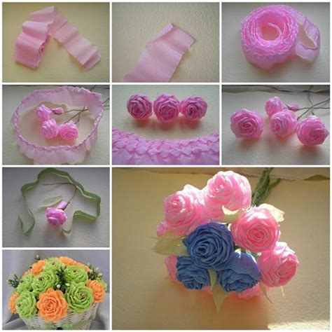 How To Make Flower Made Of Crepe Paper - how to make unique crepe paper flowers