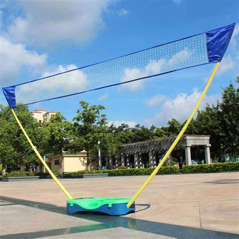 backyard volleyball net portable badminton set volleyball net frame battledore box
