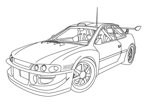 subaru impreza rally car coloring pages coloring pages