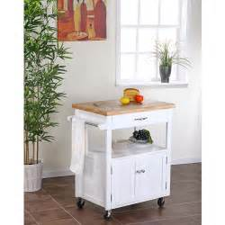 kitchen cart with butcher block top white dining room
