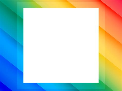 Colorful Border Backgrounds Border Frames Multi Color Templates Free Ppt Grounds And Powerpoint Templates Borders