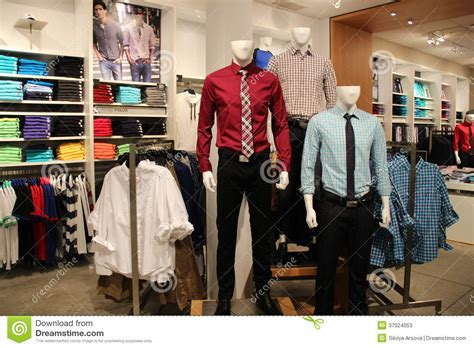 mens fashion mannequins in store editorial stock photo