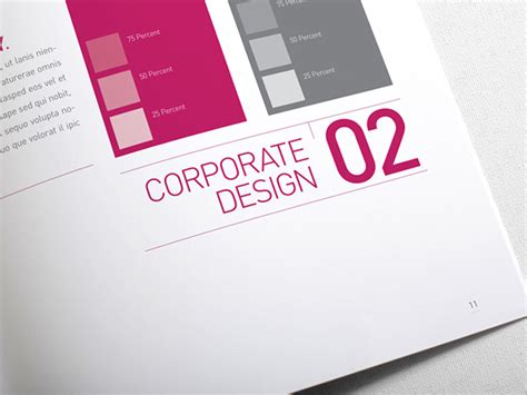 Corporate Design Styleguide Vorlage Corporate Design Manual Guide 28 Pages On Behance