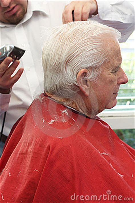 senior citizen hair cuts in houston tx grandpa gets a haircut royalty free stock images image