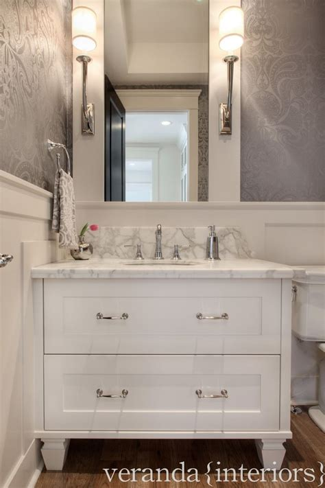 backsplash wainscoting wall coverings traditional 1000 images about condo small bathroom on pinterest