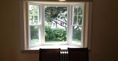 small bay window bay window pics with simple white wooden window frames of