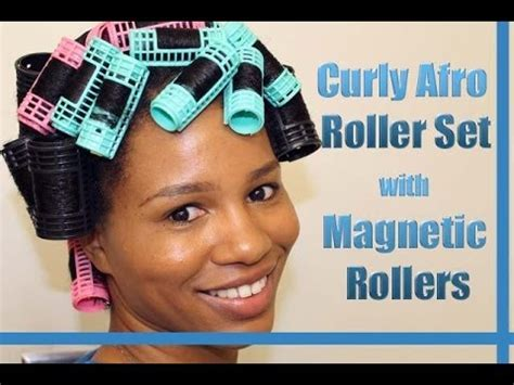 natural hair tutorial making your roller set youtube quot curly afro spiral curls quot roller set on natural hair using