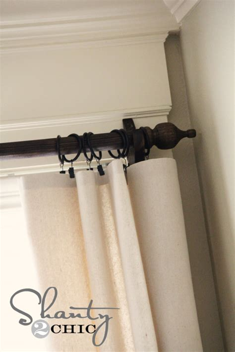 how to paint curtain rods easy no sew window panels shanty 2 chic