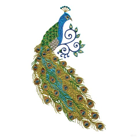 embroidery design of peacock swnpa123 peacock embroidery design