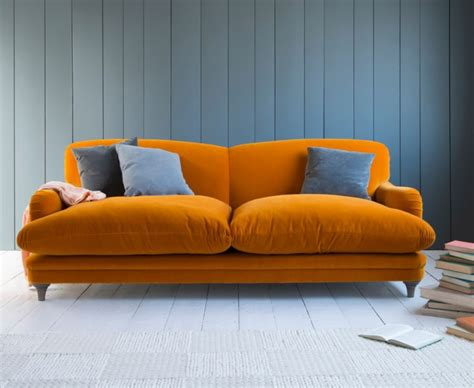 the orange couch pudding sofa mad about the house