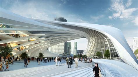modern architecture by zaha hadid architects the flinders street station shortlisted proposal zaha