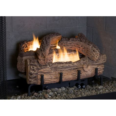 everwarm 24 quot palmetto oak ventless propane gas log set