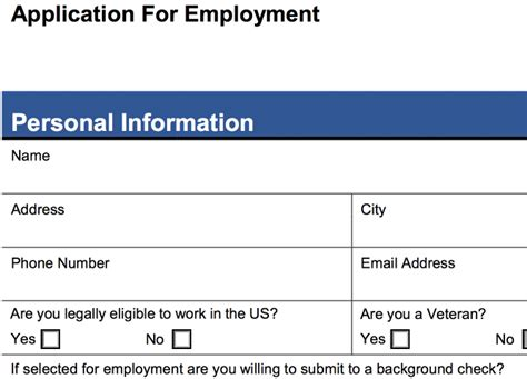 new hire application form template 4 customizable employee application forms pdf word