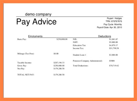 3 simple payslip template excel salary slip