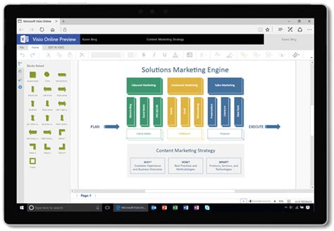 visio msdn create edit and diagrams in your browser using