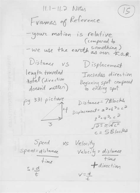 section 11 2 speed and velocity worksheet answers science 9 physics gilesclassrooms