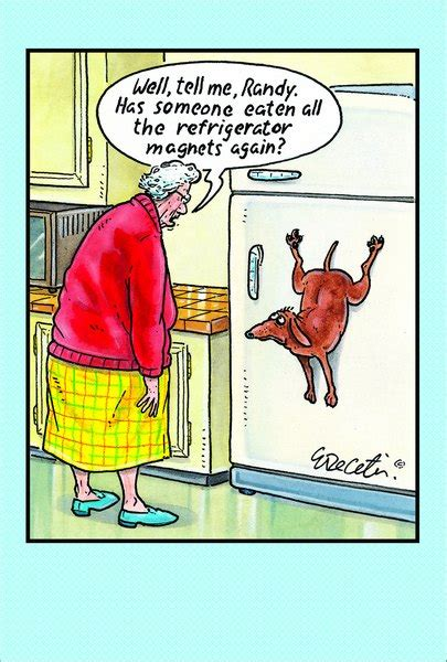 refrigerator magnet eric decetis funny humorous birthday card  pictura