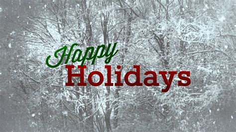 happy holidays  snow hd background loop youtube