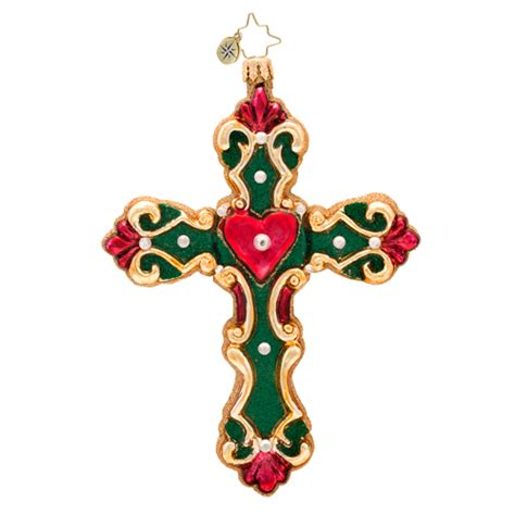 cross my heart for christmas ornament by christopher radko