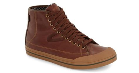 tretorn leather sneakers tretorn skymra water resistant leather high top sneakers