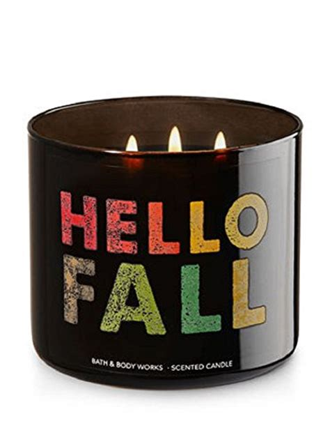 Bath Works Xoxoxo 3 Wick Scented Candle bath works hello fall scented 3 wick candle