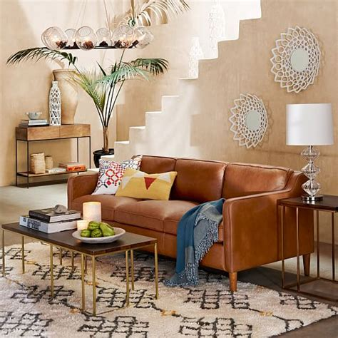 west elm hamilton hamilton leather sofa 81 quot west elm