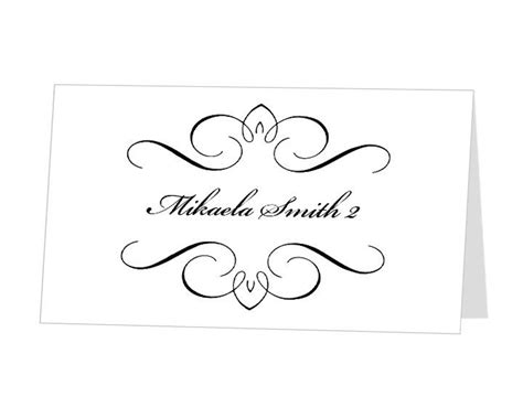 documents and designs place card template